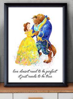 Disney Prinzessin Belle Schönheit und das Biest von GenefyPrints
