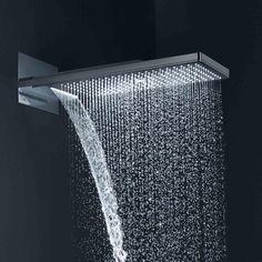 Hansgrohe Axor ShowerSolutions 250 / 580 3jet: Die Kopfbrause verfügt über 3 Strahlarten: Rain (kraftvoll prasselnder Regenstrahl, ideal zum Haarewaschen), RainFlow (kräftiger, großflächiger Schwallstrahl), Mono (punktueller, beruhigender Entspannungsstrahl). Die Kalkablagerungen an den Silikondüsen sind durch leichtes Wischen (QuickClean) zu entfernen. #kopfbrause #dusche #shower #rainshower #bad #badezimmer #bathroom #hansgrohe #showersolution #drei #strahlarten #relax #reuter #reuterde