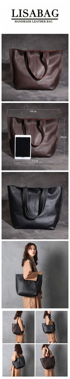 Handmade Women's Fashion Full-Grain Leather Tote Bag Ladies Handbag Shopping Bag XL003