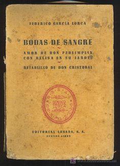 BODAS DE SANGRE POR FEDERICO GARCIA LORCA. EDITORIAL LOSADA. BUENOS AIRES. 1942 - Foto 1
