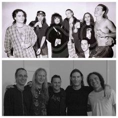 Mike Inez, Sean Kinney, Layne Staley, Mike McCready, Stone Gossard, Jerry Cantrell, Mike Starr  AIC & PJ (then and now)