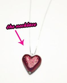 Quiet Lion Creations: Cheap-o Pave Heart Necklaces- For Valentine's Day!
