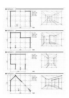 design sketches perspective Design skizziert Perspektive Image by Dr. Interior Architecture Drawing, Drawing Interior, Interior Design Sketches, Sketch Design, Online Architecture, Architecture Concept Drawings, Basic Drawing, Technical Drawing, Drawing Tips