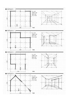 2回目の授業は、グリッドを使った簡略図法を学びました。 床にグリッドを設けておけば、家具を描き込むときに1つ1つの 寸法を取る手間がはぶけてスピー...