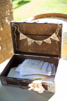 DIY wedding card vintage trunk
