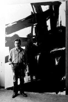 Franz Kline in the studio 1960 by John Cohen
