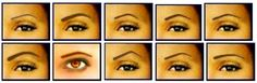 | Different Eyebrow shapes
