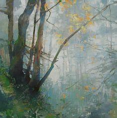 Beautiful mist makes this special. Artist: RANDALL DAVID TIPTON; Title: Iron Mountain Fog; Year of painting: 2012; Medium: Oil.
