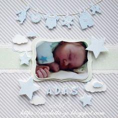 ranka ze zdjęciem dziecka, z imieniem, scrap, LO