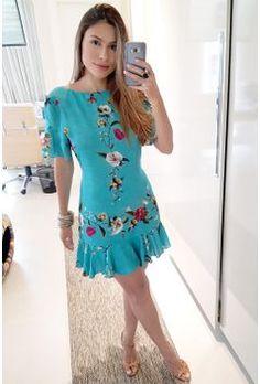 Vestido Curto para o dia a dia Casual Dresses, Short Dresses, Fashion Dresses, Summer Dresses, Girl Fashion, Fashion Looks, Womens Fashion, Look Chic, Cotton Dresses
