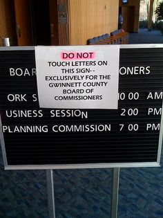 Pranksters, beware! Signage | Flickr - Photo Sharing! via Michael Casey