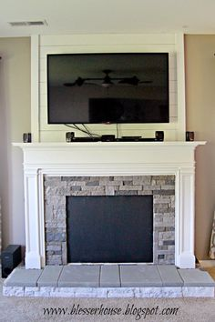 How to Build a Faux Fireplace and Mantel | Faux fireplace ...