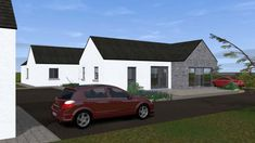 Traditional Large Style Bungalow providing our client with large living spaces, maximizing comfort and practicality. Bungalow Renovation, Farmhouse Renovation, Bungalow House Plans, Bungalow House Design, Country Farmhouse Exterior, House Designs Ireland, Old School House, Living Spaces, House Ideas
