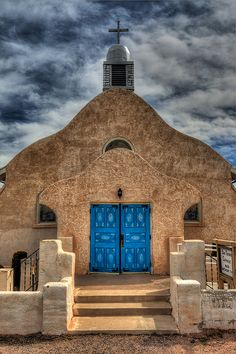 Old church in San Ysidro, New Mexico. The village has been a farming community since 1699 when Juan Trujillo established a settlement named for San Ysidro, or Saint Isidore the Farmer.