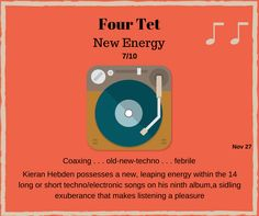 Four Tet, New Energy, Rock Music, Old And New, Techno, Passion, Album, Songs, Rock