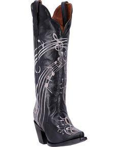 Dan Post Womens Black Treble Boots - Snip Toe, Black