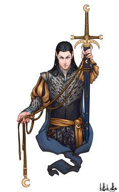 Elfo de Nan Elmoth (Maeglin) by Tottor Fantasy Races, Fantasy Rpg, Medieval Fantasy, Dark Fantasy, Warhammer Fantasy, Fantasy Artwork, Hobbit, Character Portraits, Character Art
