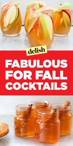 Fall-Flavored Cocktails, From Pecan Pie Martinis to Pumpkin Pie Sangria Fall Mixed Drinks, Fall Drinks Alcohol, Fall Cocktails, Holiday Drinks, Craft Cocktails, Alcoholic Drinks For Fall, Alcoholic Desserts, Fruity Cocktails, Acholic Drinks