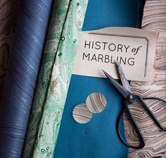 The History of Marbling from one of my favorite sites. This was interesting to read. I can't wait to try it some time for myself.