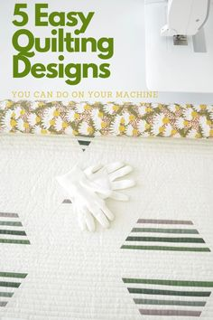 Quilting tutorial with five easy ways you can quilt your quilts at home! #sewnhandmade #quilttutorial #quiltingdesigns #modernquilter #modernquilt Quilting Rulers, Quilting Tips, Quilting Tutorials, Machine Quilting Tutorial, Machine Quilting Designs, Modern Quilt Patterns, Sewing Patterns, Straight Line Quilting, Traditional Quilts