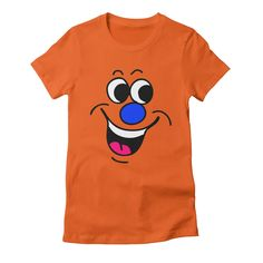 happy-2 womens t-shirt in orange_poppy
