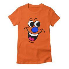 happy-2 womens t-shirt in orange_poppy