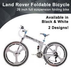 [S$99.00](▼77%)★ Land Rover Foldable Bicycle ★ 26 inch ★ Full Suspension Folding Bike ★ High Carbon Steel With 21 Speeds Shimano Shifter And Gear System ★ 2 Designs ★ 2 Colours ★ MrHomeSG ★