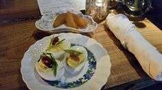 Deviled eggs and an edible Manhattan at Grain, read review on Hot Dish Review!