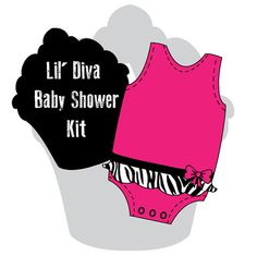 Lil Diva Baby Shower Kit by RockinParties on Etsy, $25.00