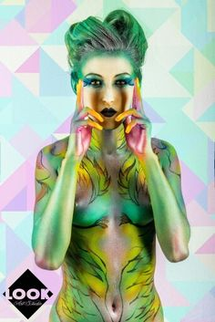 Body paint realizado por look art studio