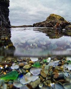 sea glass love so I love this beach. /// Glass Beach in California...
