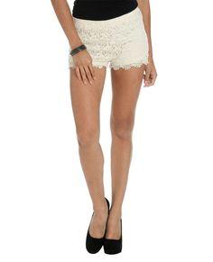 Floral Crochet Short | Shop Bottoms at Wet Seal Regularly $22.50  Now $10.00