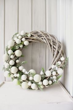 A Too many balls for me but another wreath idea. C