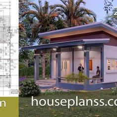 Small House Design Plans with 2 Bedrooms Full Plans - House Plans Sam Simple House Plans, Simple House Design, 6 Bedroom House Plans, House Construction Plan, Home Buying Tips, Shop House Plans, Home Design Plans, Shed Plans, House Layouts