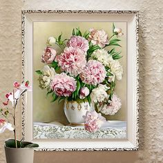 Diy Dmc Counted Cross Stitch Printed On Canvas Kits Vase Flower //Price: $27.26 & FREE Shipping //     #crafts #sewing