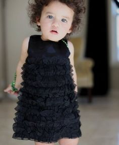 Another great find on Black Satin Ruffle Dress - Infant ab9d94fd768d