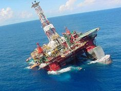 Brazil's oil company Petrobras rigg P-36, the world's biggest floating oil rig sank in the South Atlantic on Tuesday. Petrobras warned that more than 300,000 gallons (1.2 million liters) of diesel fuel on board was likely to spill. and spilling oil company, said the company in a press released.