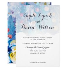 Whimsical Wonderland  Spring Floral Wedding Card - invitations custom unique diy personalize occasions