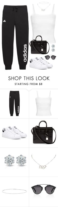 """#697"" by concinnity ❤ liked on Polyvore featuring adidas, adidas Originals, Yves Saint Laurent, Christian Dior and Suzanne Kalan"
