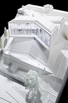 X House by Cadaval & Solà-Morales, architectural model, maquette, maqueta, modulo