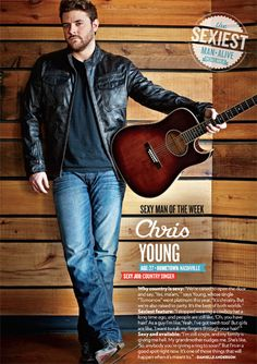 Chris Young Is PEOPLE's Sexy Man of the Week! (Exclusive First Look) - The Boot