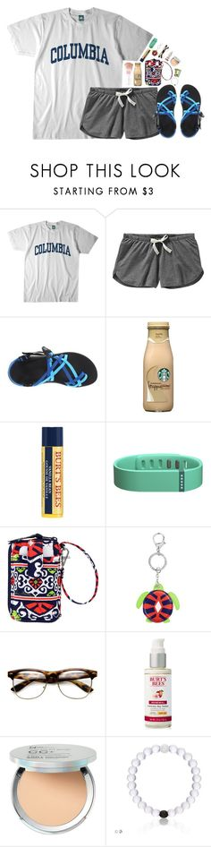 """✧;; morning walk on the beach"" by harknessl ❤ liked on Polyvore featuring Columbia, Old Navy, Chaco, Maybelline, Burt's Bees, Fitbit, Vera Bradley, It Cosmetics and preppybylauren"