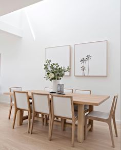 Dining Room Wall Decor, Dining Room Design, Dining Rooms, Dining Tables, Dining Room Modern, Scandinavian Dining Chairs, Entryway Wall, Kitchen Tables, Kitchen Modern