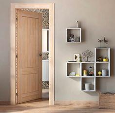 Las puertas en tonos naturales son muy versátiles y combinan con cualquier tipo de decoración - Leroy Merlin