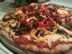 Spelt Pizza dough Quick and easy. I usually let this rise for a while before adding sauce and toppings.