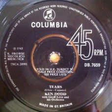 """7"""" 45RPM Tears/You And I by Ken Dodd from Columbia (DB.7659)"""