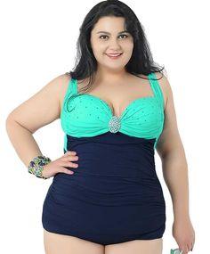 SEBOWEL Women Plus Size L-5X Printed Racerback One Piece Flare Swimdress Tankini Swimsuit Swimwear Bathing Suit