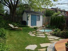 Small backyard with spa garden