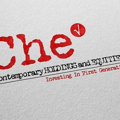 CHE – Contemporary HOLDINGS and EQUITIES, Inc.     Logo Design