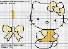 Hello Kitty - Chiffre 1 - Jaune